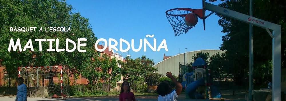 Bàsquet a l'Escola MATILDE ORDUÑA