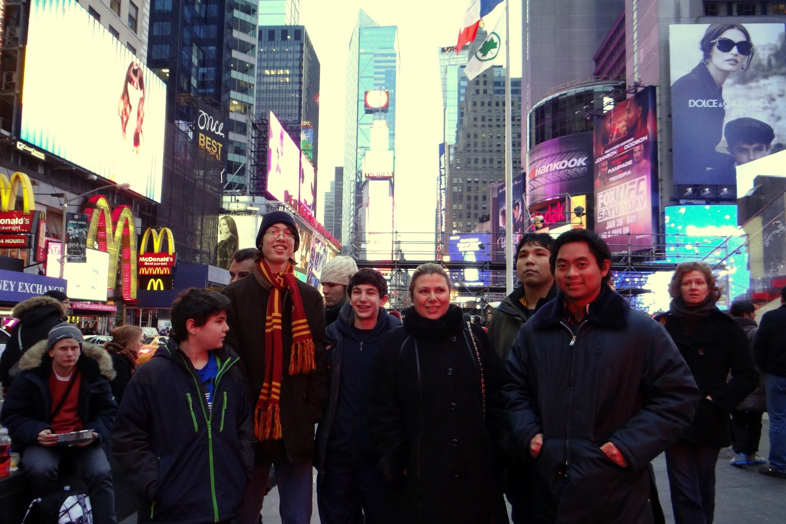 Webster University chess team members in New York