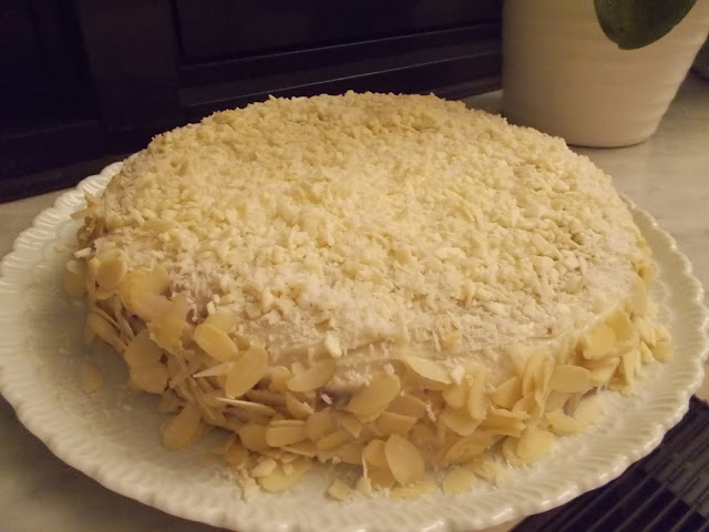 un merenda british: coconut cake