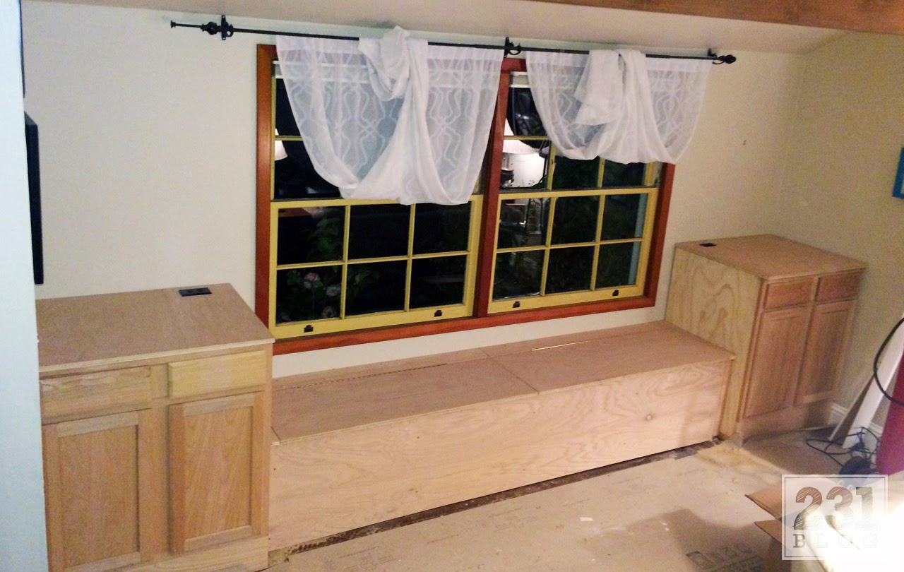 diy built in window bench with storage