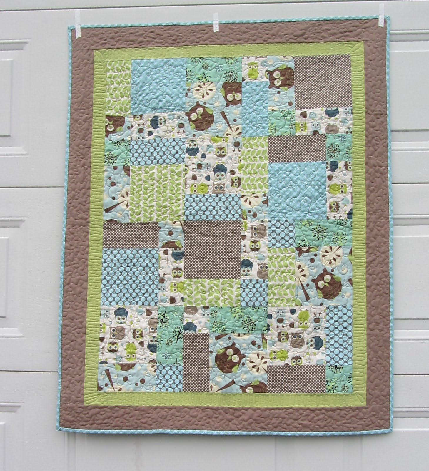 Making More with Less: Owl Baby Quilt