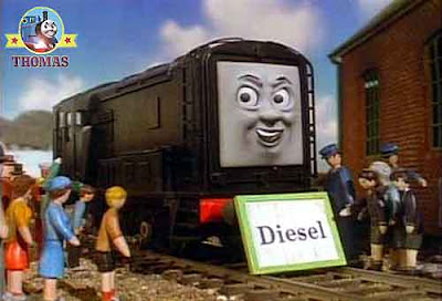 Thomas and his friends Diesel the tank engine picture at the Island of Sodor show ground