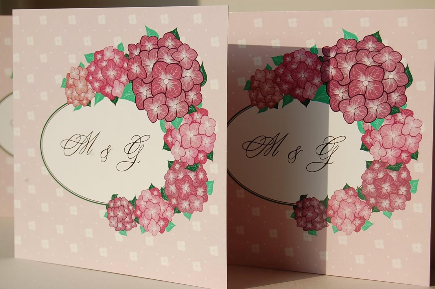 zaproszenia ślubne różowe
