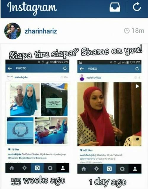 Neelofa CIPLAK Design Tudung Sastra Hijab