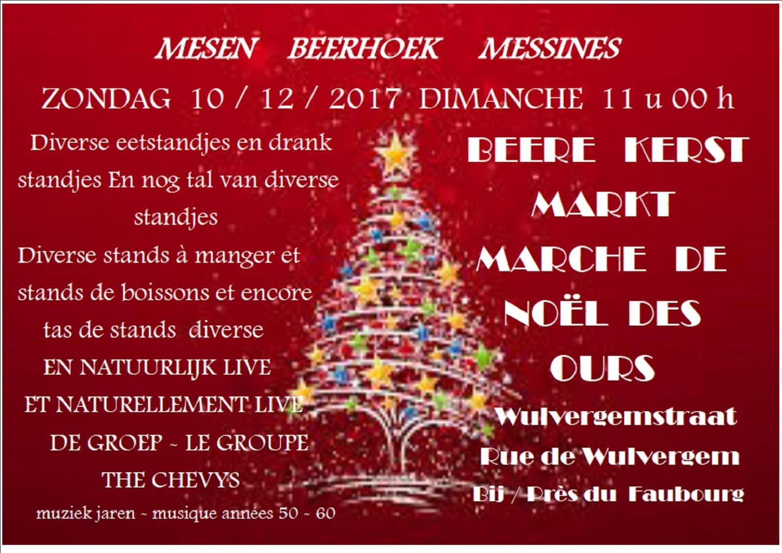 Messines 10 décembre marché de Noël