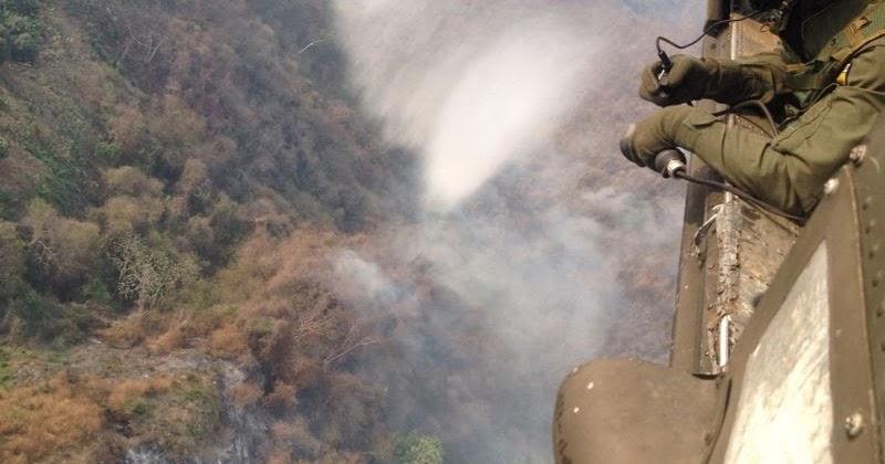 Cacom n 5 apoya la extinci n de incendios en la sierra for Piscinas portatiles colombia