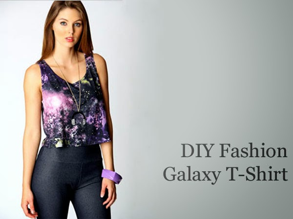 DIY Fashion: Painted Galaxy T-Shirt