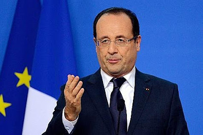 François Hollande parla