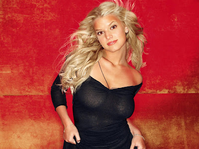 Jessica Simpson HD Wallpaper black dress