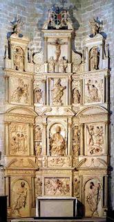 Retablo de San Pedro Apóstol en la Catedral de Barbastro (Somontano, Huesca, Aragón, España)