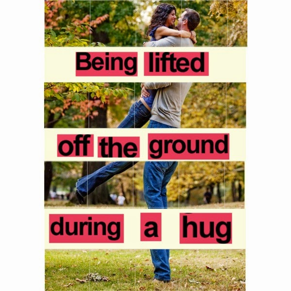 being lifted during hug