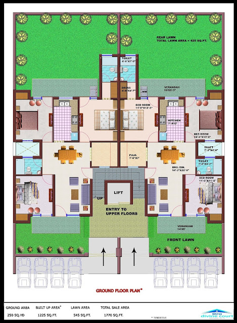 ERA Divine Court 3 BHK Floor Plan