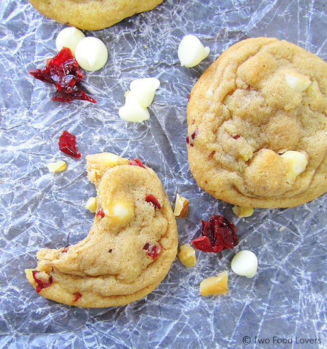Cranberry White Chocolate Walnut Cookies