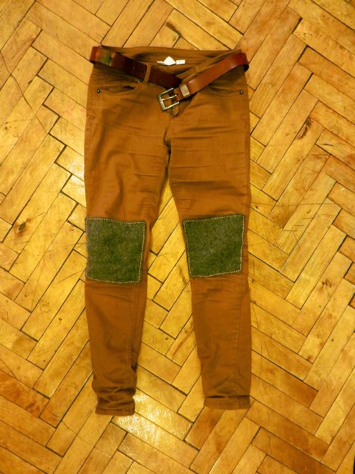 Как сделать заплатку из кожи на штанах