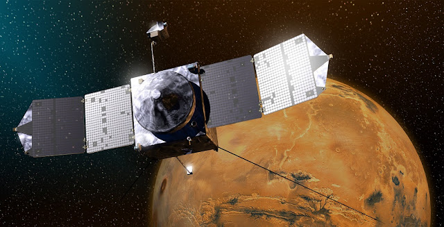 NASA's Mars Atmosphere and Volatile EvolutioN (MAVEN) spacecraft. Credit: NASA