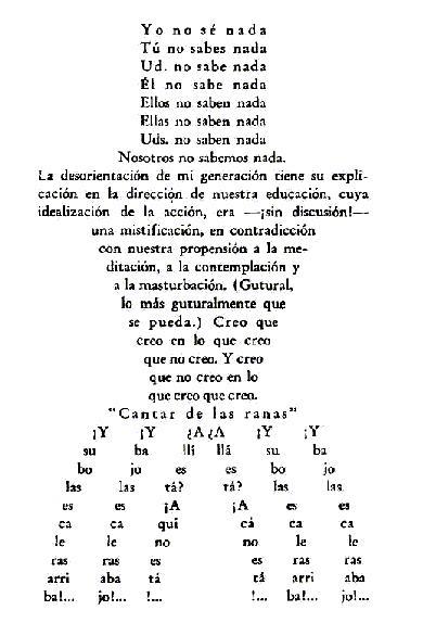 lunes, 14 de enero de 2008 - poemas vanguardistas 2