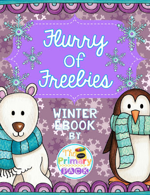 Flurry of Freebies - winter ebook full of free printable resources for primary