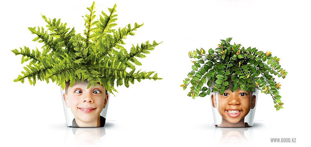 mix and chic cool diy project alert human face flower pots. Black Bedroom Furniture Sets. Home Design Ideas