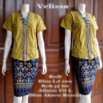 model-kebaya-rok-batik-prada-Velisa-kuning