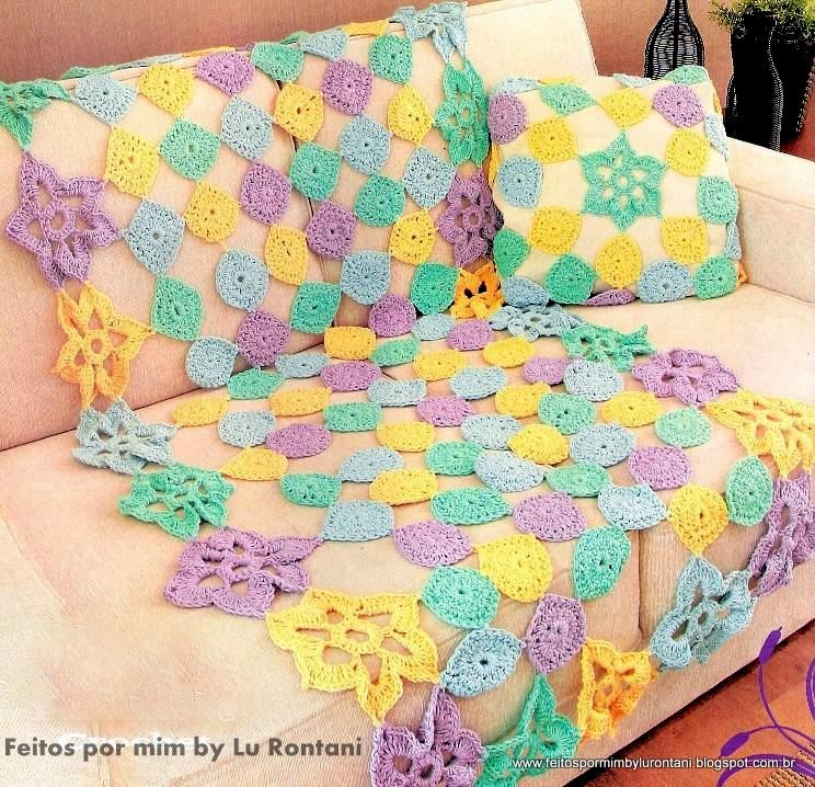 Feitos Por Mim By Lu Rontani Mantas Para Sof 225 Em Croch 234