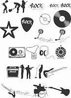 ClipArts Musicais estilo Rock
