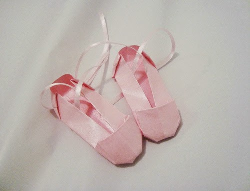origami ballet shoes