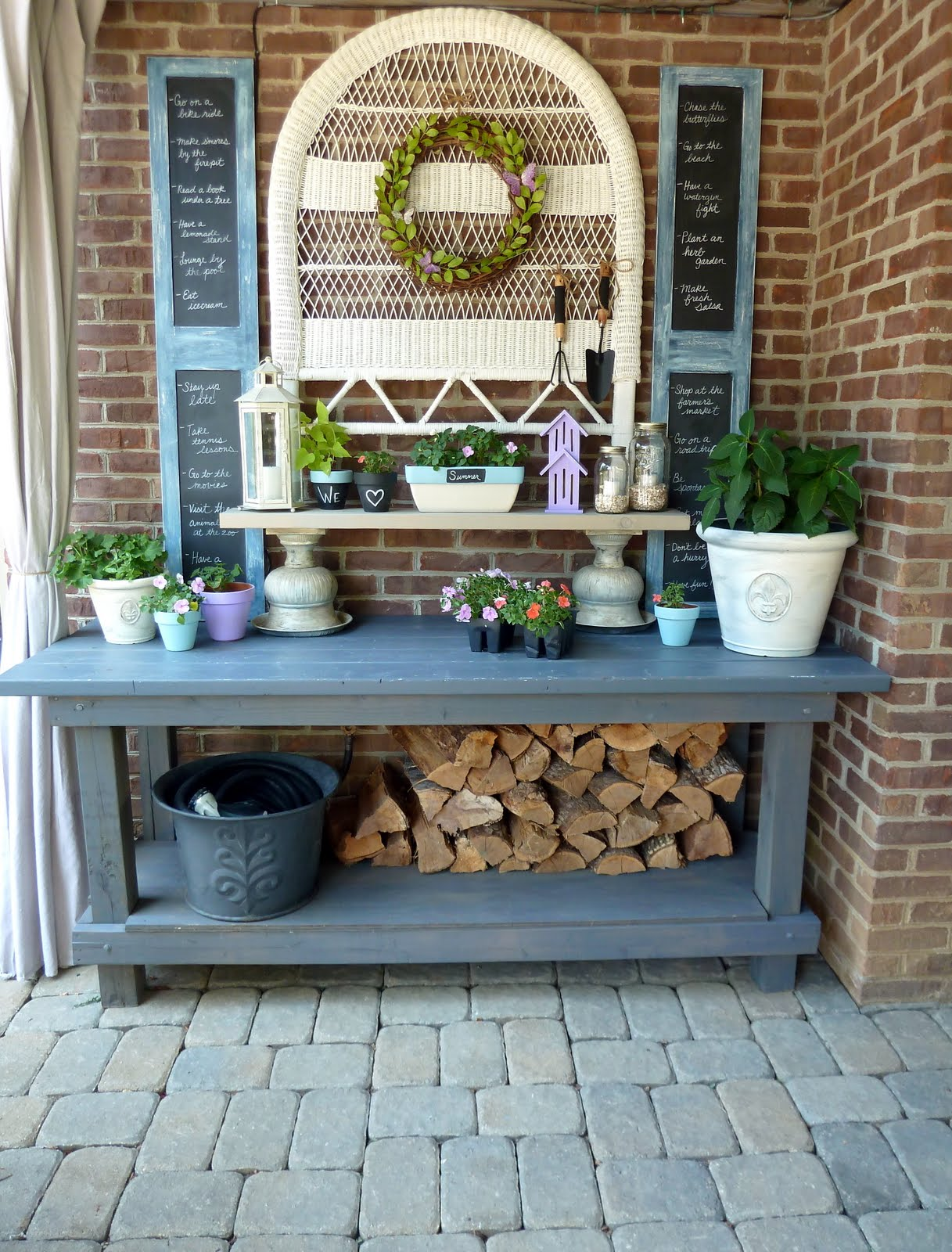 Potting benches plans simple home decoration Outdoor potting bench