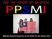 I SUPPORT PPSMI!