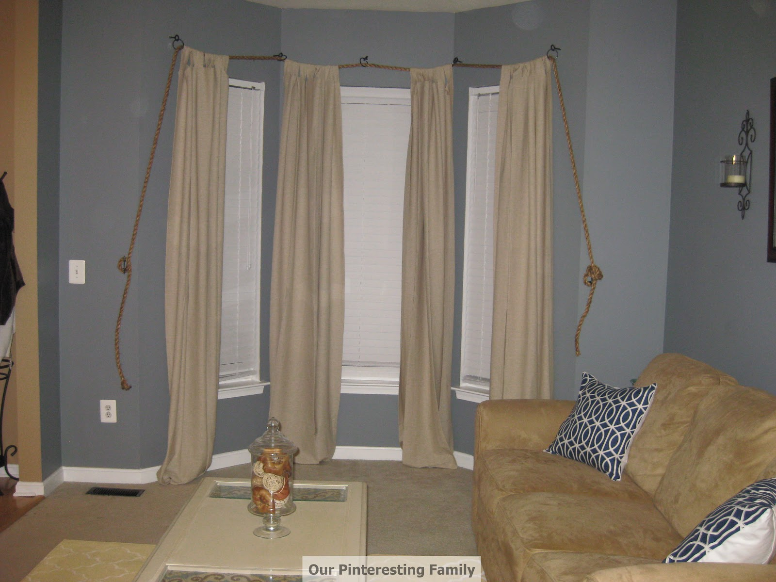Nautical Rope Curtain Rod Re Post