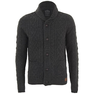 Threadbare Men's French Chunky Cable Cardigan - Charcoal 21,15 €