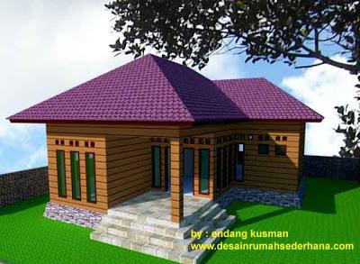 Gambar Desain Rumah Mungil Minimalis - 3D
