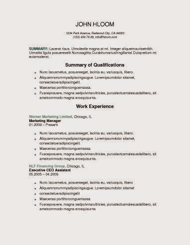 corporate candidate - Wwwfree Resumecom