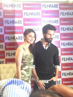 Filmfare Shaandaar cover unveiled by Shahid Kapoor & Alia Bhatt event photos