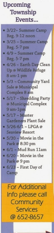 Upcoming Township Events