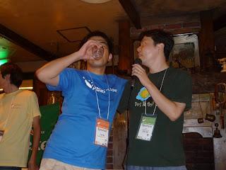 PyCon JP 2011 のパーティの様子