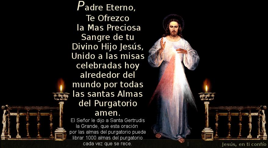 foto de jesus con oracion por las almas benditas del purgatorio