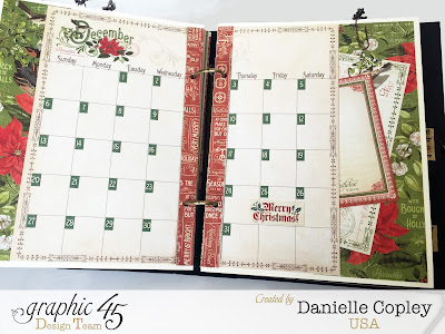 mixed media album planner using Graphic 45 Steampunk Debutante, Time to Flourish and Botanicabella