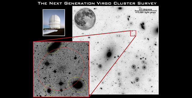 Example of a Low Surface Brightness Galaxy in the Virgo cluster. These galaxies are very hard to detect and the LSB mode on MegaCam enabled the possibility of such detections. Credit: cfht.hawaii.edu
