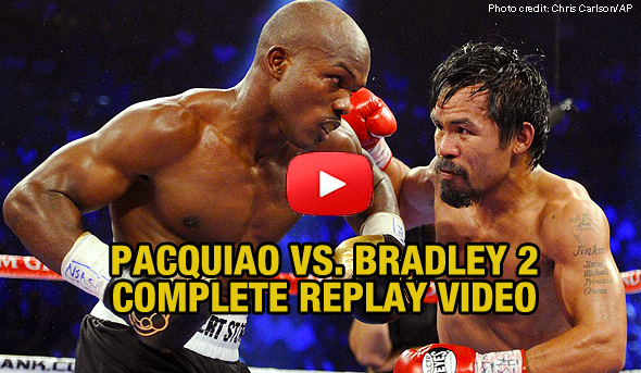 Pacquiao vs. Bradley 2: COMPLETE REPLAY VIDEO