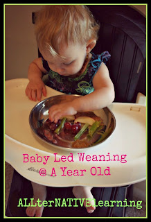 Modified baby led weaning with purees to encourage eating