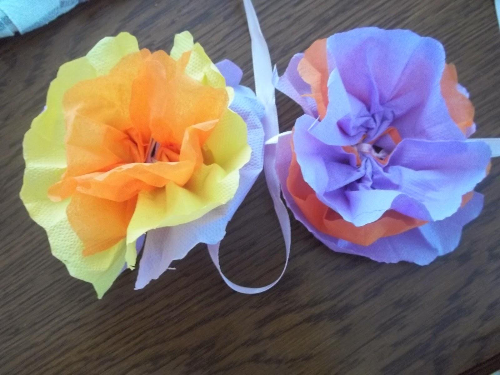 peçeteden çiçekler