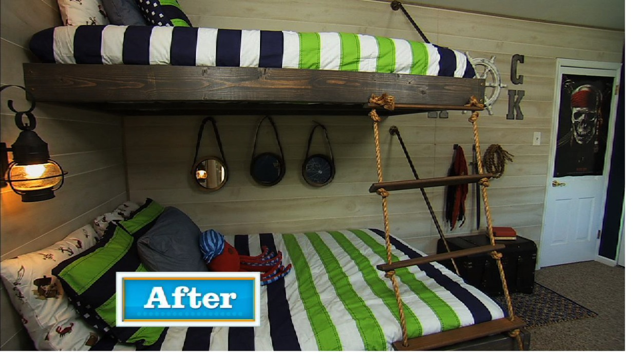 Floating Bunk Beds Tutorial {Knock It Off DIY Project} - Floating Bunk Beds Tutorial {Knock It Off DIY Project} - East