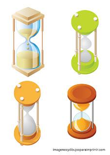 Relojes de arena para imprimir
