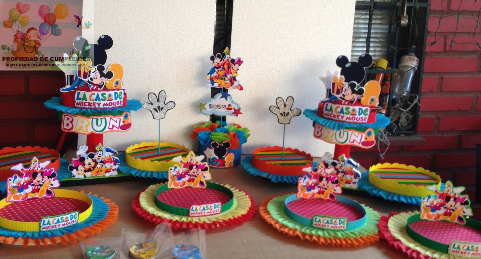 DECORACIONES INFANTILES: mickey mouse