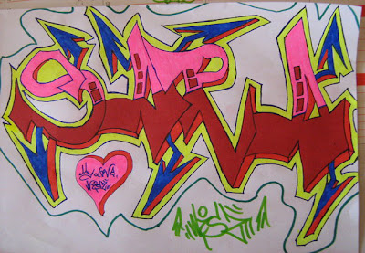 Drawing-Graffiti-Alphabet-Letter-SARA-font