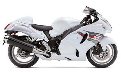 2012 Suzuki Hayabusa Pearl Glacier White Color