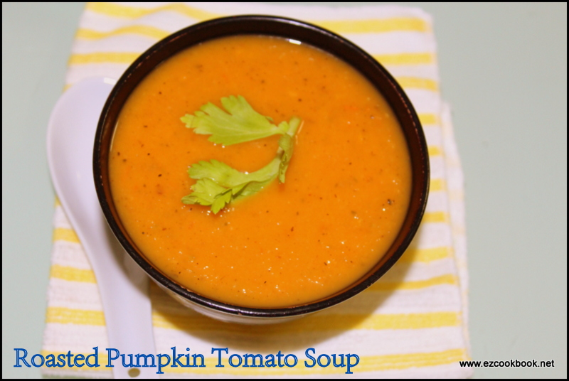 Sweet & Sour, Tangy Roasted Pumpkin Tomato Soup