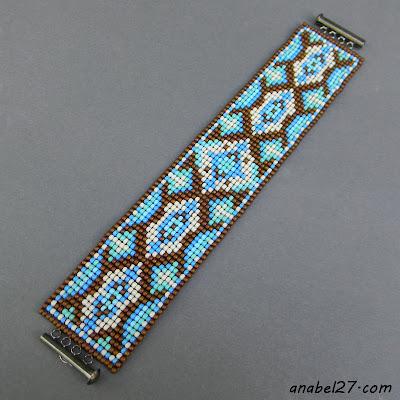 купить бисерный браслет с орнаментом подарок девушке парню