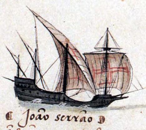 Gambar Kapal Layar Caravel lukisan