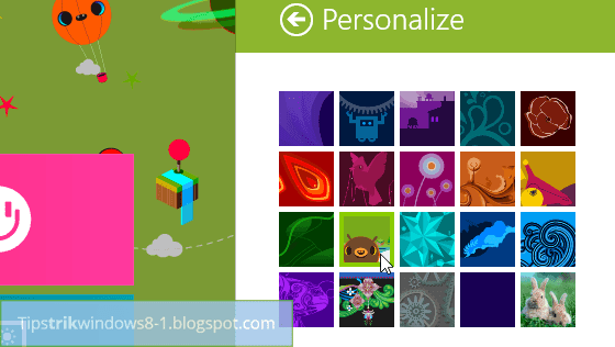 Cara Mengubah Tema Start Screen Windows 8.1